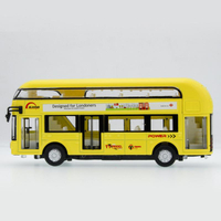 Double-decker Bus Alloy Mini Model Car Toys Sightseeing Bus Vehicles Urban Transport VehiclesGift For Kids