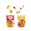 5PCS Custom Cute Small Plastic Hand Shaking Bells Baby Musical Rattle Set Toys