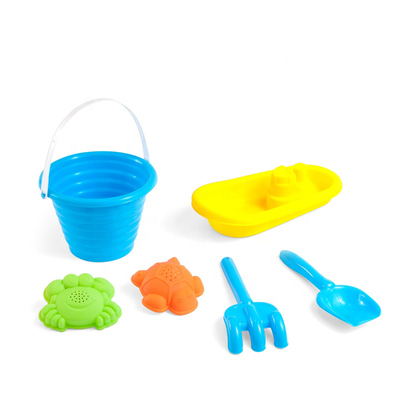 Educational Summer Entertainment Game Play Beach Toy Play Set Plastic Beach Fun Toy Set with Sand Bucket