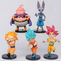 Most Popular Japaneses Style PVC Plastic Anime Action Figure Collection Toys Vinyl Dragon Ball Z Action Figures Whith High Details