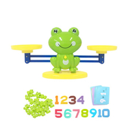 Cool Math Game, Plastic Frog Balance Counting Toys for Boys & Girls Educational Number Toy Fun Children's Gift Stem Learning Age 3+