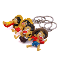 High Quality Make Your Own Design Miniature Anime Action Figure Keyring Luffy Action Figure keychain