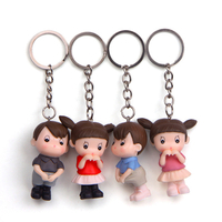 Hot Sale Children 4PCS Shy Play House Couples Wallets Bags Decoration Pendant Gift Souvenir Key Chain Set