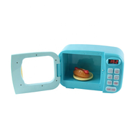 Hotsale DIY Food Cooking Game Happy Role Play Cute Small House Appliances Plastic Smart Microwave Oven Kitchen Set Toys for Girls