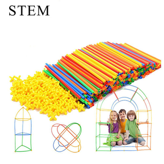 Creative Design Stem Creative Building Construction Straw Toys for Kids Fun Learning Educational Toy