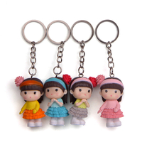 Hot Sale Make Your Own Design Mini Cute Doll Bag Keychain Souvenir Keychain Set for Girl