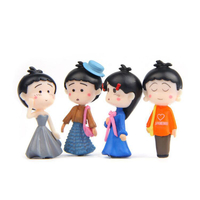 Custom Made Personalized Plastic/PVC Miniature Action Figure Model Keychain Cartoon Decoration Souvenir Keychain Doll Family Keychain Set