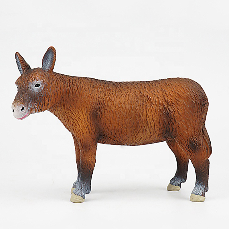 Novelty Plastic Injection Miniature Animal Anime Action Figure PVC Donkey Figurines
