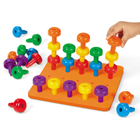 Educational Stacking Peg Board Toddler Toys