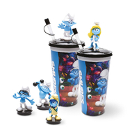 Custom PVC Plastic Cartoon Character Animals Water Bottle Cup Children Toys
