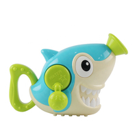 Hand Shaking Plastic Baby Water Bubble Spray Shark Bath Toy with High Qualities